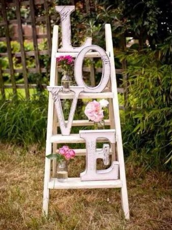 Decorar una escalera con letras