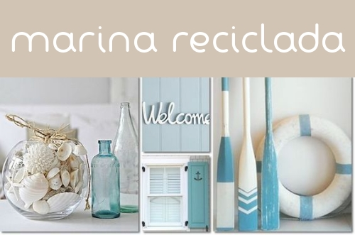 Decoración marina reciclada