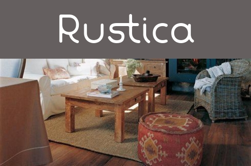 Decoración rustica
