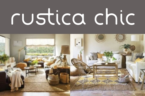 Decoración rustica chic